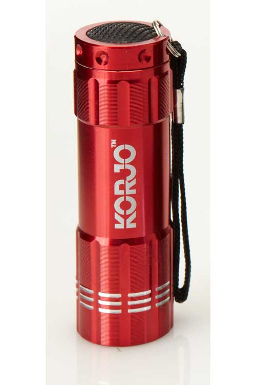 LED Pocket Torch : Red : Korjo