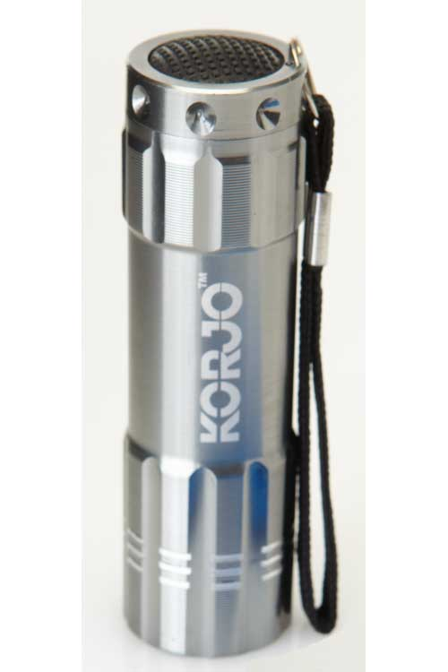 LED Pocket Torch : Silver : Korjo