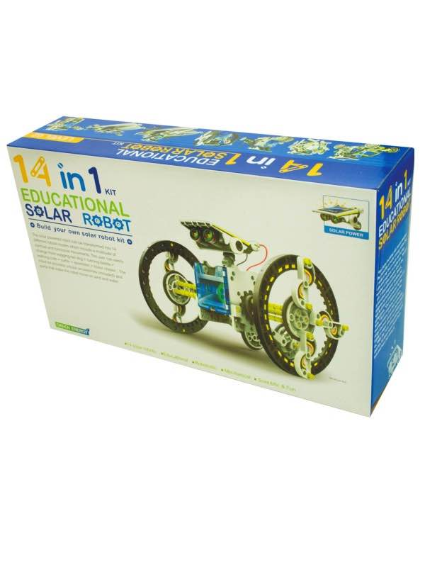 14 in 1 Educational Solar Robot : Build It Yourself Kit