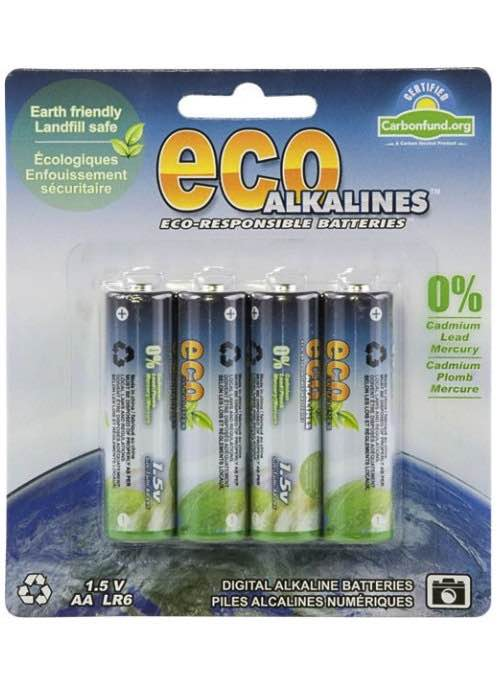 AA Battery - 4 Pack : Eco Alkalines