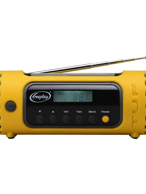 Tuf Emergency Radio Torch Charger Solar Amp Wind Up