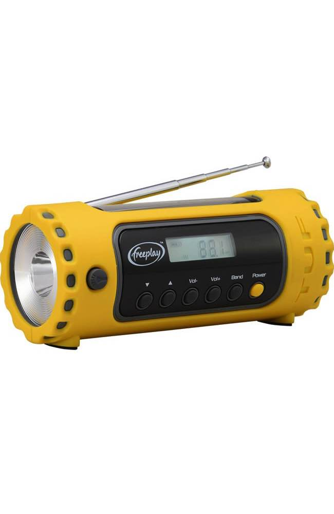 TUF Emergency Radio : Torch : Charger (Solar & Wind Up Power) : Freeplay