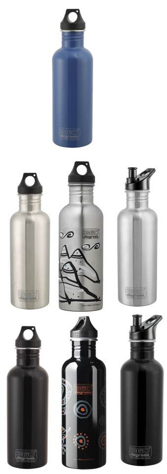 Travel Drink Bottle Extra Large 1000 ml : Stainless Steel : 360 Degrees