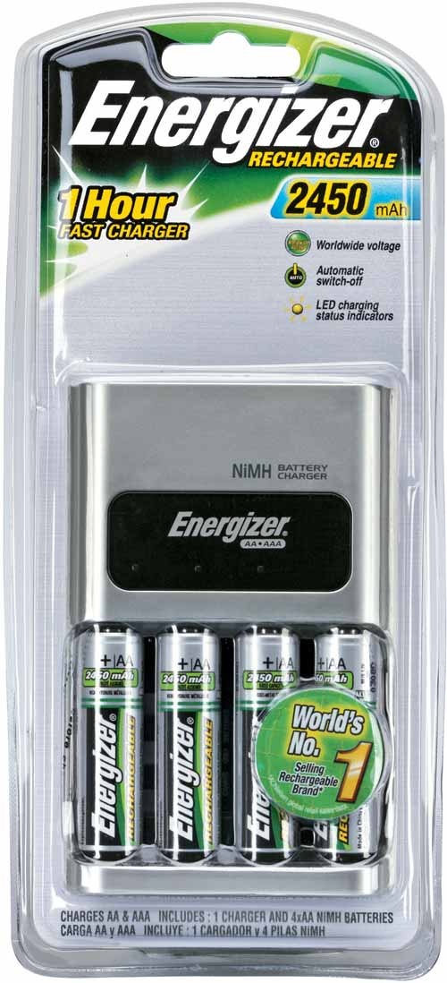 1 Hour Charger for AA, AAA: Includes 4x AA: Energizer
