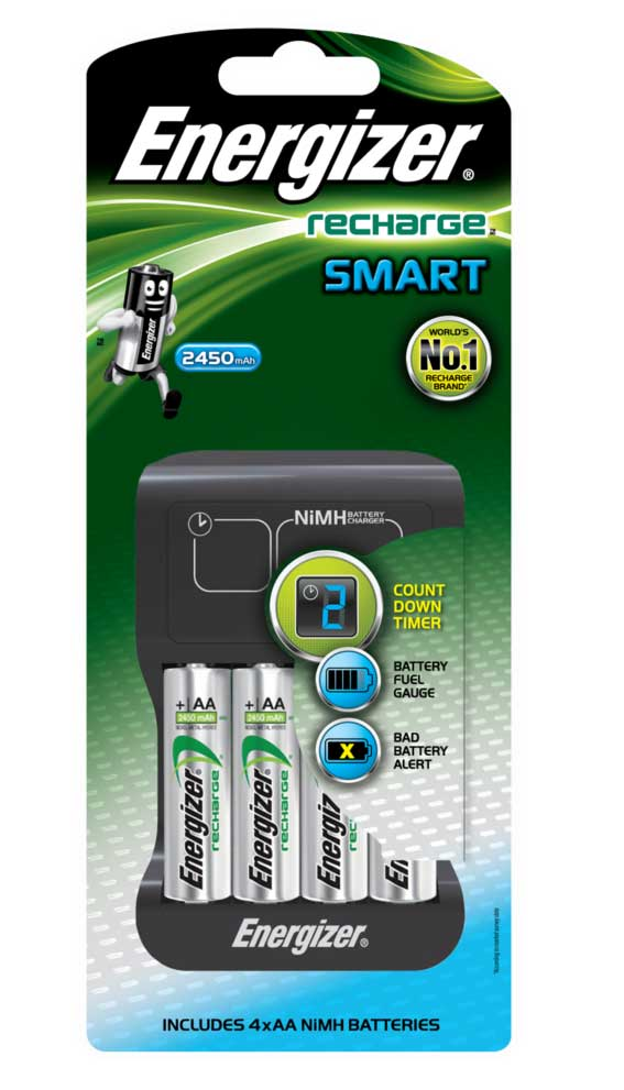 Smart Charger for AA, AAA: Includes 4x AA: Energizer