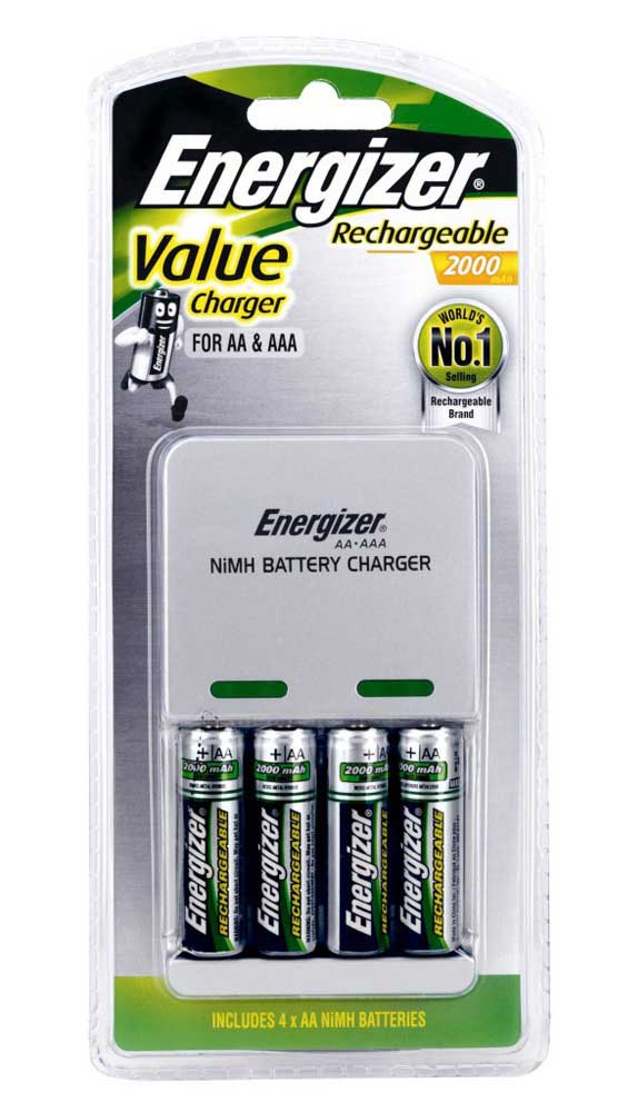 Value Charger for AA, AAA: Includes 4x AA: Energizer