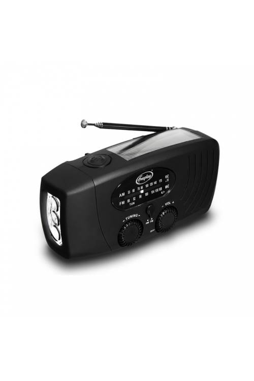 Freeplay Companion Emergency Radio : Wind up & Solar Power with LED Torch : AM / FM - Black