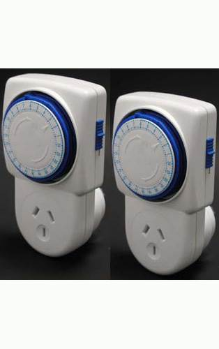24 Hour Timer Switch: Twin Pack