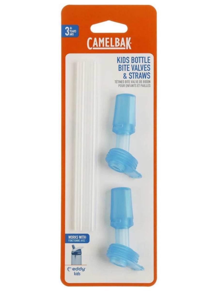 2104a9ddc1 CamelBak : Eddy Kids Bottle Replacement 2 Bite Valves and 2 Straws - Light  Blue