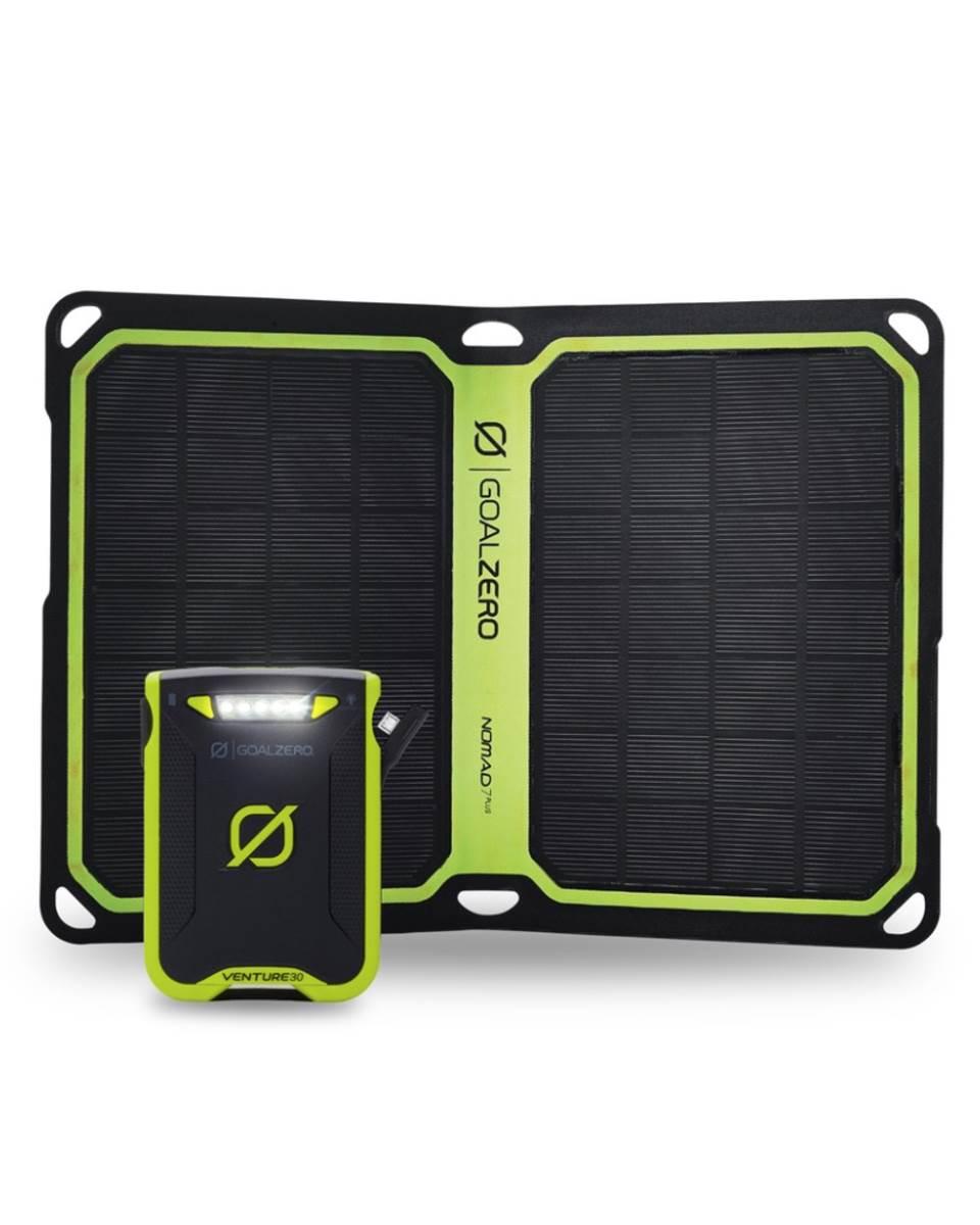 Goal Zero Venture 30 Power Bank And Nomad 7 Plus Solar Kit